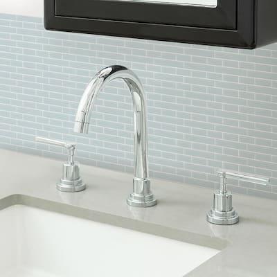 Blue Sea Glass Peel Stick Backsplash Tiles