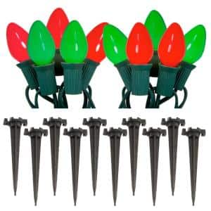 Red and Green Pathway Lights (10-Count)