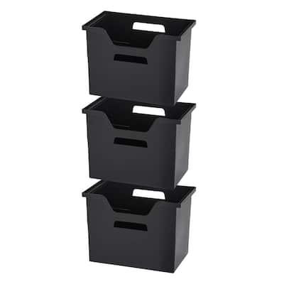 Desktop File Box Large in Black (3-Pack)
