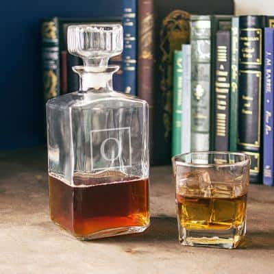 Personalized Glass Decanter - O
