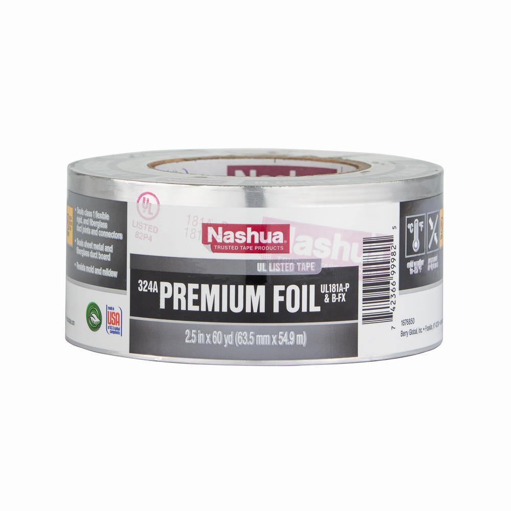2.5 in. x 60 yd. 324A Premium Foil HVAC UL Listed Tape