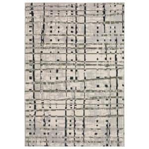 Gentry 4 Grey 5 Ft. 1 In. x 7 Ft. 5 In. Abstract Checker Area Rug