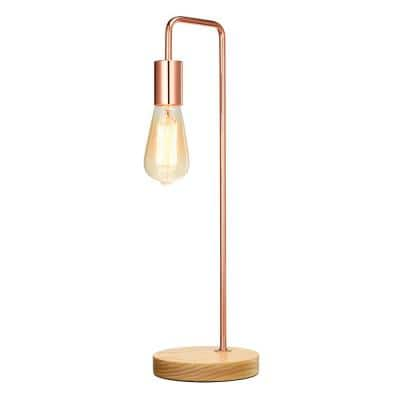 19.2 in. Rose Gold Exposed Socket Table Lamp