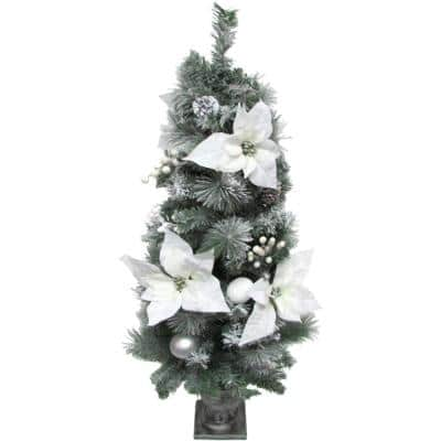 Christmas Frost Covered Porch Tree, Green