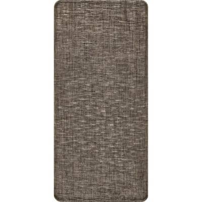 Casual Crosshatched Anti Fatigue Kitchen or Laundry Room Black 18 in. x 30 in. Indoor Comfort Mat