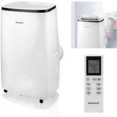 15,000 BTU Portable Air Conditioner with Heat and Dehumidifier in White