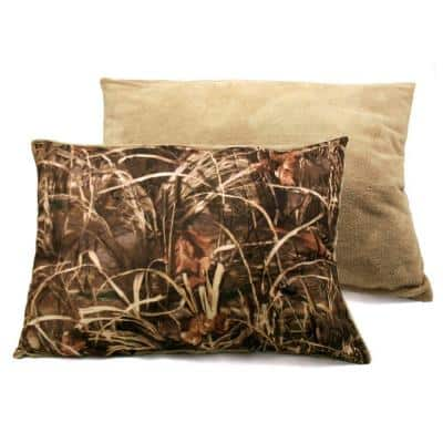 30 in. x 40 in. Max 4 Camo and Plush Pet Bed