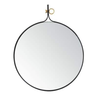 Chandlen 24 in. X 29.5 in. Matte Black Framed Mirror