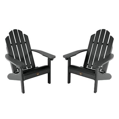 Classic Westport Black Plastic Adirondack Chair (2-Pack)