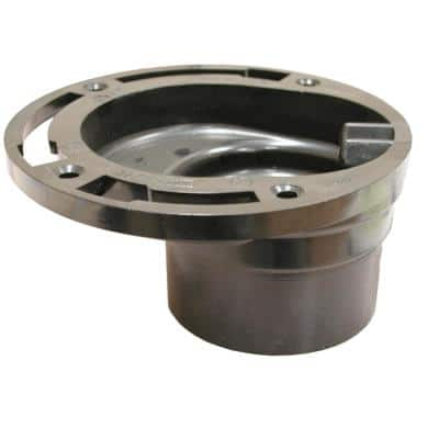 7 in. O.D. ABS 4-Way Offset Closet (Toilet) Flange Less Knockout, Fits Over 3 in. or Inside 4 in. Schedule 40 DWV Pipe