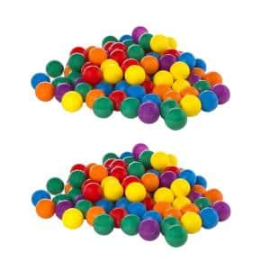 100-Pack Large Multi-Colored Plastic Fun Ballz for Ball Pits (2-Pack)