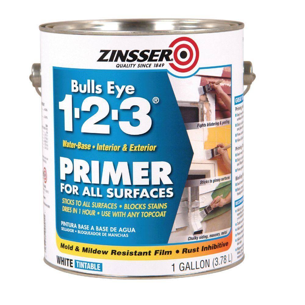 Zinsser Bulls Eye 1-2-3 1-Gal. Water-Based White Primer/Sealer-DISCONTINUED