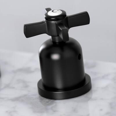 Millennium 8 in. Widespread 2-Handle High-Arc Bathroom Faucet in Matte Black