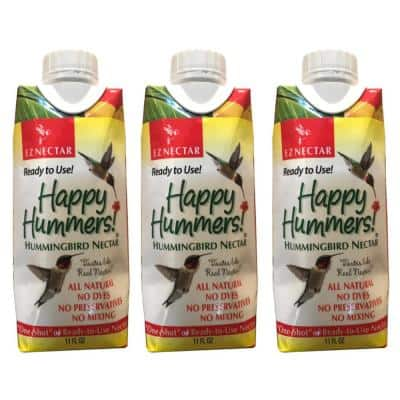 11 fl. oz. Hummingbird Nectar/Food One-Shot Ready-to-Use 100% Sugar and Water (3-pack)