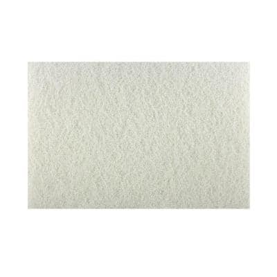12 in. x 18 in. Non-Woven White Buffer Pad
