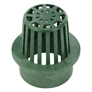 3 in. Plastic Round Atrium Drainage Grate in Green