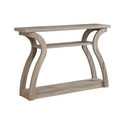 48 in. Dark Taupe Standard Rectangle Wood Console Table with Storage