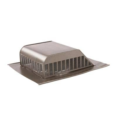 60 sq. in. NFA Aluminum Slant Back Roof Louver Static Vent in Weathered Wood (Carton of 6)