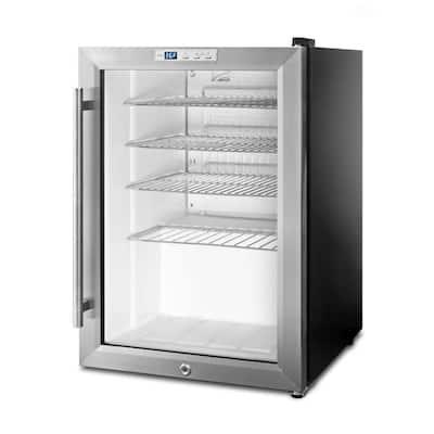 2.5 cu. ft. Glass Door Mini Refrigerator in Black
