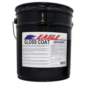 5 Gal. Gloss Coat Brown Tinted Semi-Transparent Wet Look Solvent-Based Acrylic Exposed Aggregate Concrete Sealer