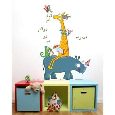 """(38 in x 56 in) Multi-Color """"Guinguette"""" Kids Wall Decal"""