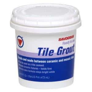 12861 1-pt. White Tile Grout Ready To Use