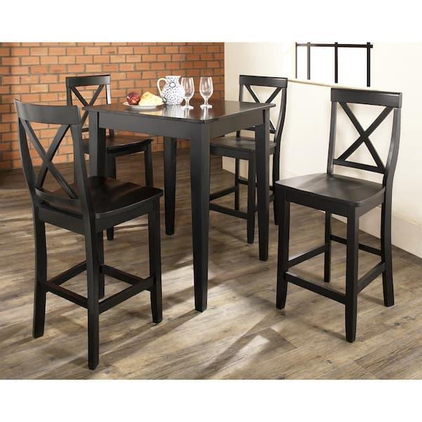 Crosley Furniture 5 Piece Black Pub, Dining Room Sets Pub Style