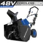 18 in. 48-Volt Cordless Electric Snow Blower Kit with 2 x 4.0 Ah Batteries + Charger