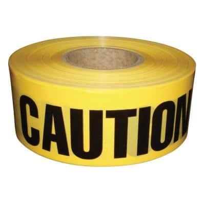 3 in. x 1,000 ft. Caution Barricade Tape