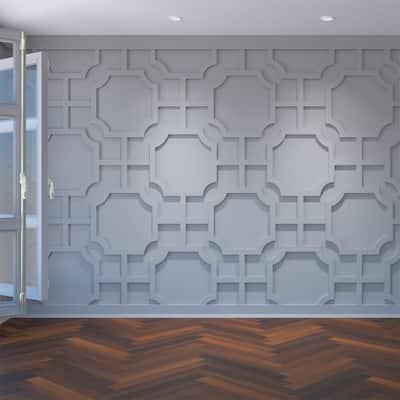 3/8 in. x 40-7/8 in. x 23-3/8 in. Bradley Decorative Fretwork Wall Panels in Architectural Grade PVC