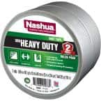 1.89 in. x 120 yd. 300 Heavy-Duty Duct Tape in Silver (2-Pack)