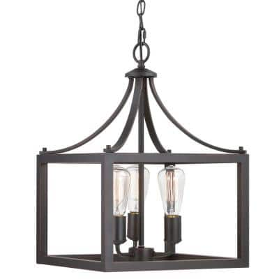 Boswell Quarter 3-Light Distressed Black Pendant