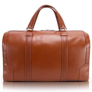 McKlein Kinzie, 20 in. Brown Top Grain Cowhide Leather Carry-All Duffel