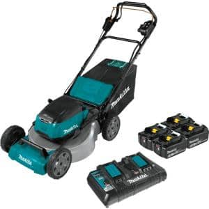 21 in. 18-Volt X2 (36-Volt) LXT Lithium-Ion Cordless Walk Behind Self Propelled Lawn Mower Kit with 4 Batteries (5.0 Ah)
