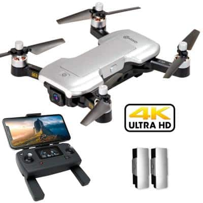 F30 FPV Drone with 4K UHD Camera and GPS, Foldable Mini Drone, Brushless Motor, 2 Batteries and Carrying Case Included