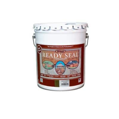 5 Gal. Mission Brown Exterior Wood Stain and Sealer