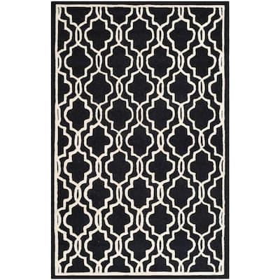 Cambridge Black/Ivory 5 ft. x 8 ft. Area Rug