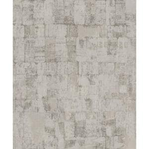 Abstract Weathering Wallpaper Warm Grey Paper Strippable Roll (Covers 57 sq. ft.)