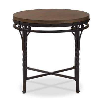 Austin Medium Brown Wood Finished End Table
