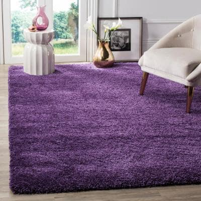 Milan Shag Purple 9 ft. x 12 ft. Solid Area Rug