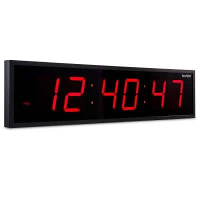 Jumbo Digital LED Clock - Red (24 in.)