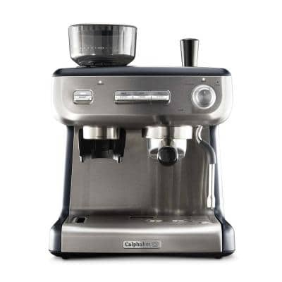 Temp IQ Espresso Machine with Grinder and Steam Wand Stainless