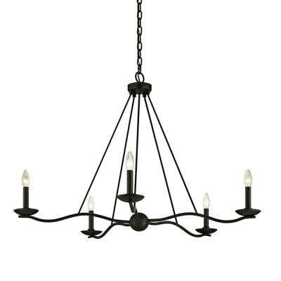 Sawyer 5-Light Forged Iron 40 in. D Chandelier