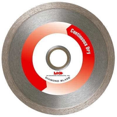 4 in. Supreme Continuous Rim Dry Cutting Diamond Blade