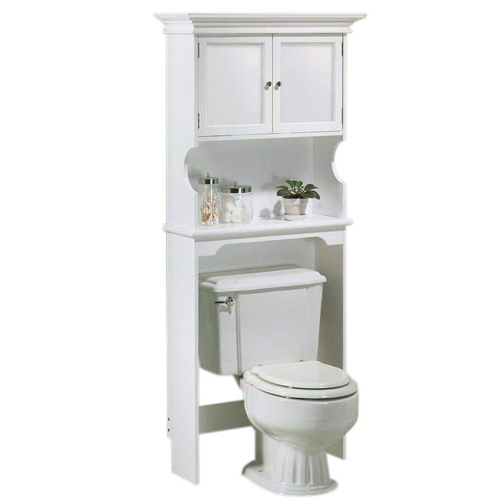 Home Decorators Collection Hampton Harbor 30 In W Space Saver In White Bf 21015 Wh The Home Depot