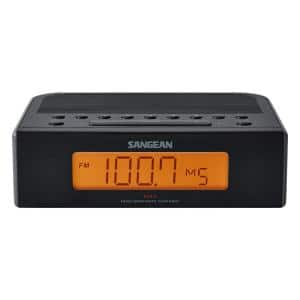 FM/AM Digital Tuning Alarm Clock Radio (Black)