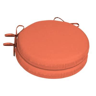 15 x 15 Sunbrella Canvas Melon Round Outdoor Chair Cushion (2-Pack)