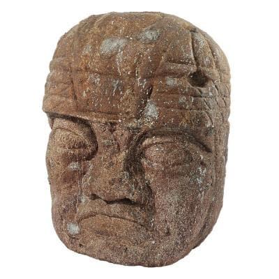 44.5 in. H Megalithic Olmec Head Grand Statue