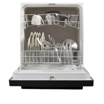 Front Control Dishwasher in Black, 64 dBA