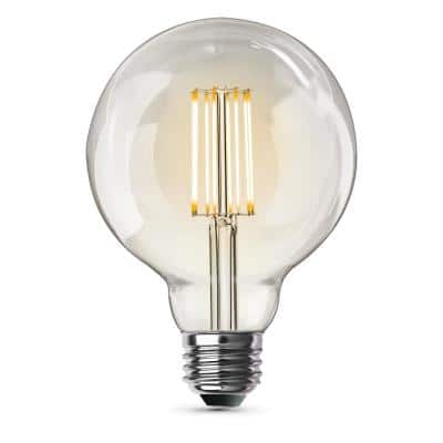 60-Watt Equivalent G30 Dimmable Cage Filament Clear Glass E26 Vintage Edison LED Light Bulb, Soft White